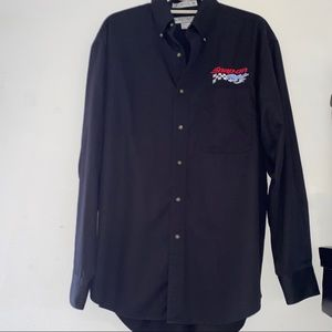 Snap On Button Down Shirt Sz M